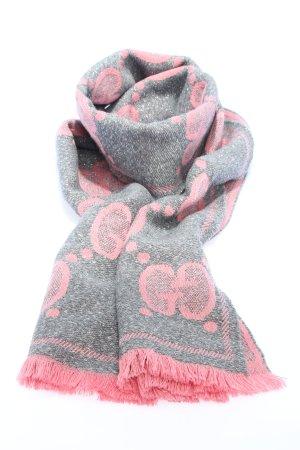 """Gucci Wollschal """"GG Motiv Scarf Wool Graphite/Pink"""""""