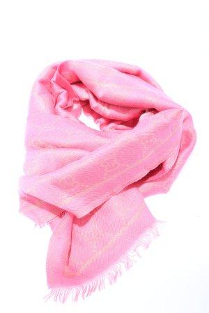 "Gucci Bufanda de lana ""GG Lamé"" rosa"