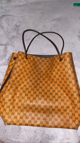 GUCCI XXL BAG in braun/orange
