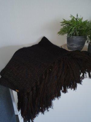 Gucci Sjaal met franjes zwart bruin