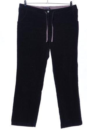 Gudrun Sjöden Pantalon en velours côtelé noir style décontracté