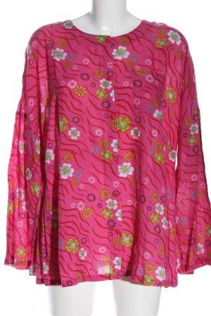 Gudrun Sjöden Langarmhemd pink-grün Allover-Druck Casual-Look