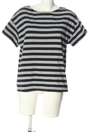 Gudrun Sjöden T-shirt rayé noir-gris clair motif rayé style décontracté