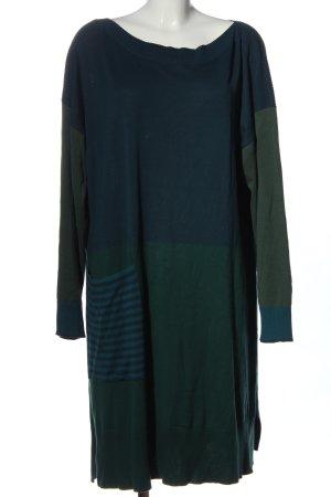 Gudrun Sjöden Sweaterjurk blauw-groen gestreept patroon casual uitstraling