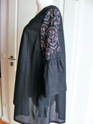 Gudrun Sjöden Tunika Kleid schwarz bestickt Gr. M 44 weit neuwertig