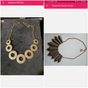 Statement Necklace gold-colored-khaki
