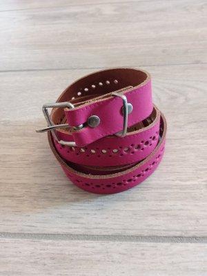 Leather Belt pink