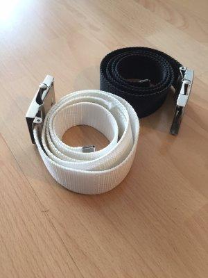 Fabric Belt white-black