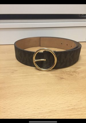 Michael Kors Canvas Belt black-light brown