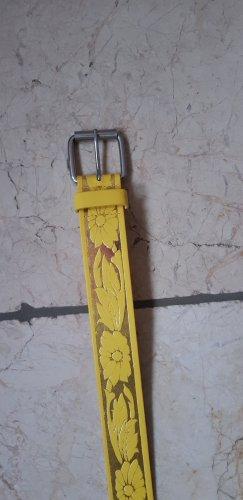 Hebilla del cinturón blanco-amarillo