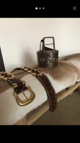 Tailleriem bruin-brons