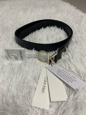 Calvin Klein Leather Belt black