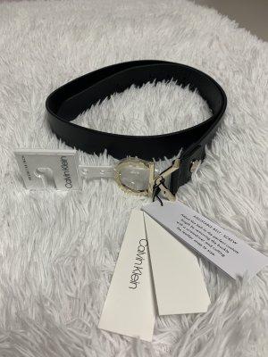 Calvin Klein Cintura di pelle nero