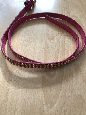 Faux Leather Belt pink