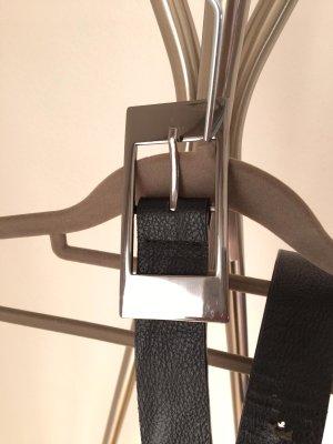 keine Faux Leather Belt black mixture fibre