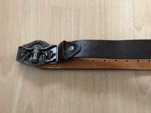Boucle de ceinture brun-brun foncé