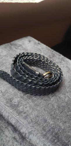 Cinturón trenzado azul oscuro