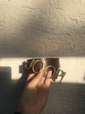 Joop! Cintura di pelle marrone