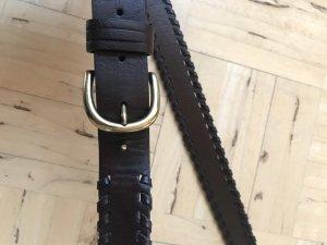 Promod Faux Leather Belt black brown