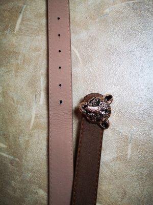 Cinturón de cuero de imitación marrón grisáceo