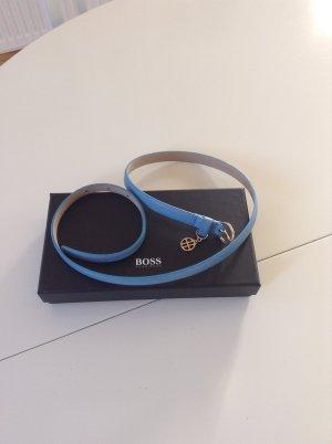 Hugo Boss Ceinture en cuir bleu azur cuir