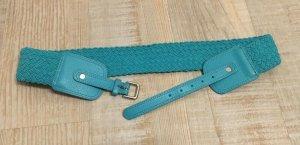 H&M Cinturón trenzado azul cadete tejido mezclado