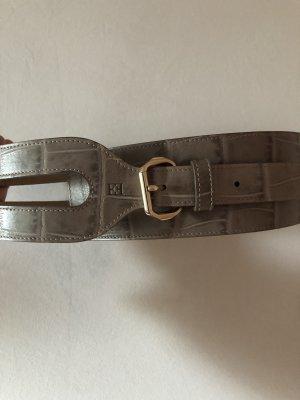 Escada Leather Belt grey brown