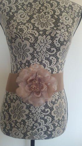 Cintura in tessuto rosa antico