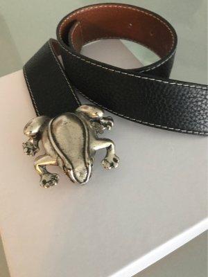 Cinturón reversible negro-marrón