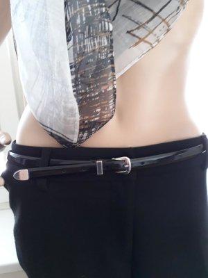 Madeleine Cinturón de cuero negro Cuero