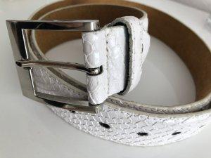 Vera Pelle Cinturón de cadera blanco