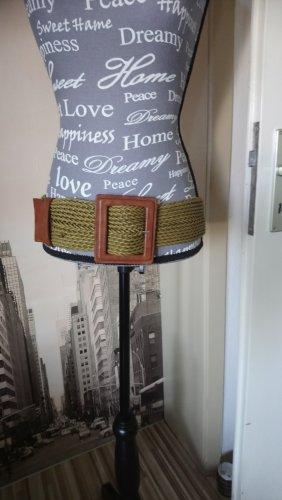 Cinturón trenzado marrón-gris verdoso