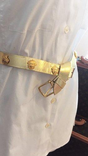 Cinturón de cadera naranja dorado-color oro Imitación de cuero