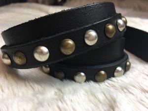 Pieces Double Belt black