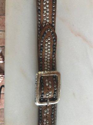 B Belt Cintura di pelle marrone chiaro
