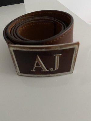 Armani Jeans Leather Belt cognac-coloured