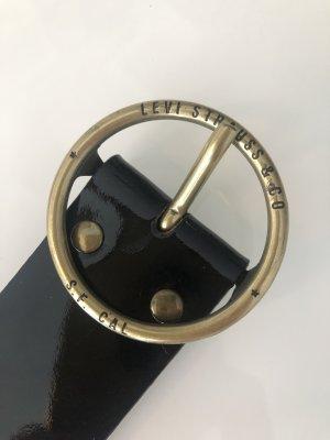 Levi's Leather Belt black-gold-colored