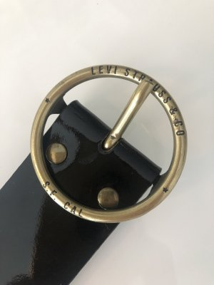 Levi's Cintura di pelle nero-oro