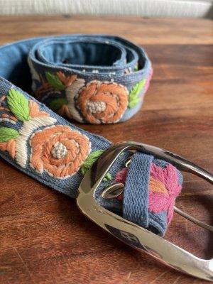 Sarah & Sally Cinturón de tela multicolor