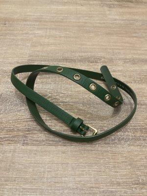 H&M Cintura in ecopelle verde bosco