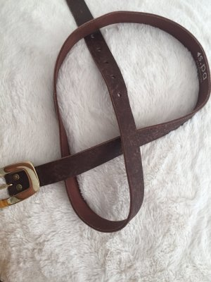 s.pa Leather Belt gold-colored-brown leather