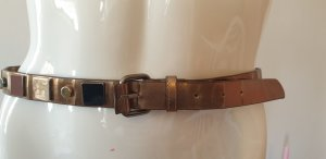 Mango Studded Belt grey brown