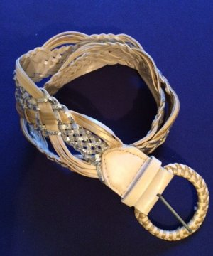 Braided Belt oatmeal-gold-colored