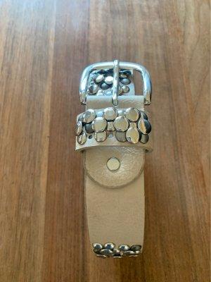 Cinturón de pinchos beige-beige claro Cuero