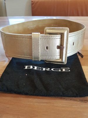 Bergé Leather Belt gold-colored