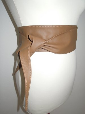 Leather Belt brown-cognac-coloured leather