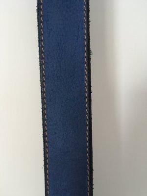 Leather Belt steel blue