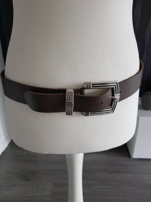Intermoda Leather Belt khaki-brown