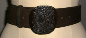 René Lezard Waist Belt brown red
