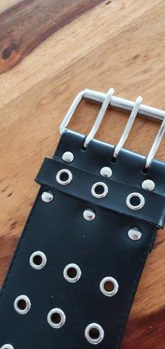 Cinturón de cadera negro tejido mezclado